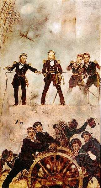 37-Антон Ромако (1832–1889) - Адмирал Тегетгофф в битве при Лиссе I - 1878–1880.jpg