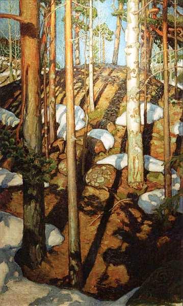 44-Аксели Вальдемар Галлен-Каллела (1865–1931) - Весна в Каллеле - Около 1900.jpg