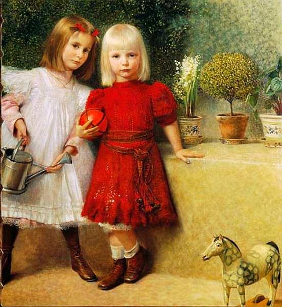 48-Франц фон Матч (1861–1942) - Хильда и Франци Матч - 1901.jpg