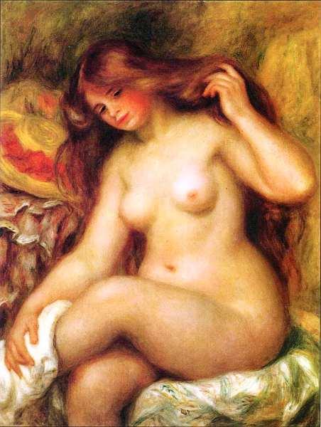 52-Пьер Огюст Ренуар (1841–1919) - Девушка со светлыми волосами - 1904–1906.jpg