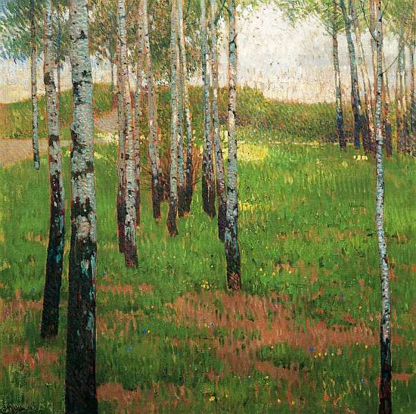 53-Карл Молль (1861–1945) - Березовый лес.jpg