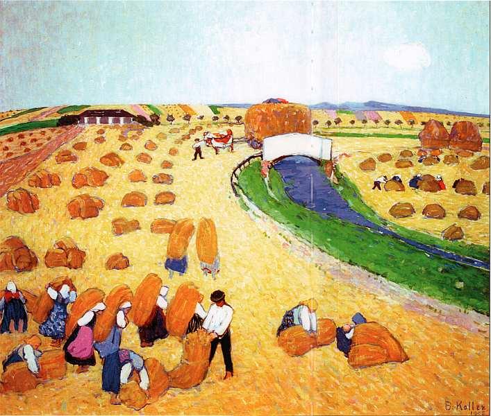 55-Бронция Коллер-Пинель (1863–1934) - Уборка хлеба - 1908.jpg
