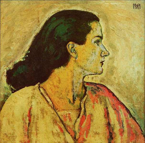 57-Коломан Мозер (1868–1918) - Женский портрет в профиль - Около 1912.jpg