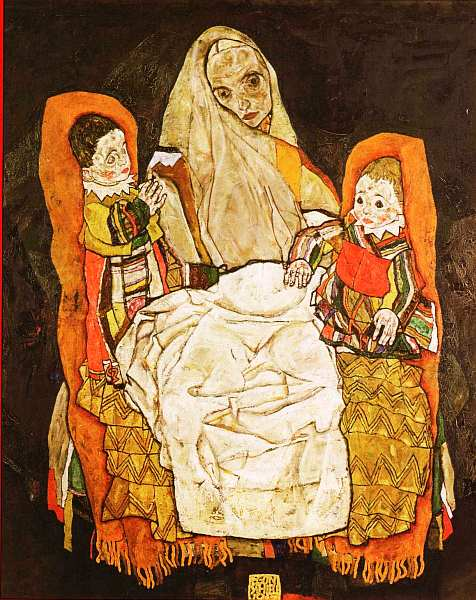67-Эгон Шиле - Мать с двумя детьми - 1915–1917.jpg
