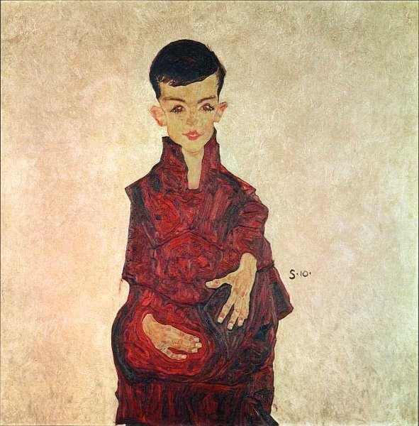 68-Эгон Шиле (1890–1918) - Маленький Рейнер (Герберт Рейнер в возрасте около шести лет) - 1910.jpg