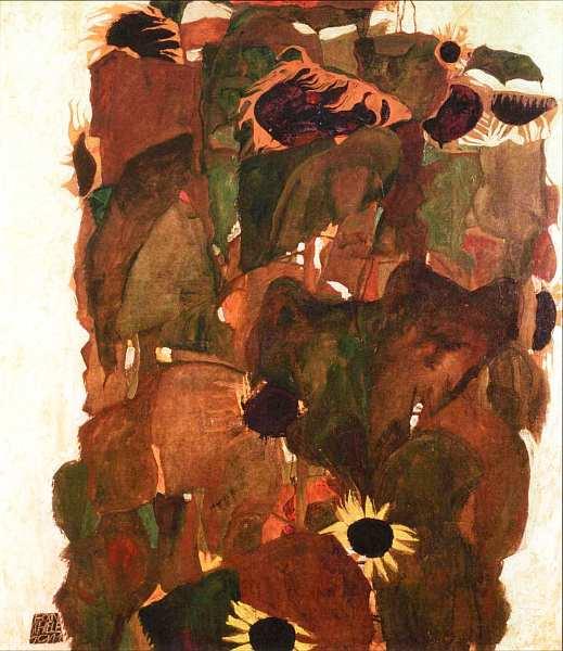 69-Эгон Шиле (1890–1918) - Подсолнухи - 1911.jpg