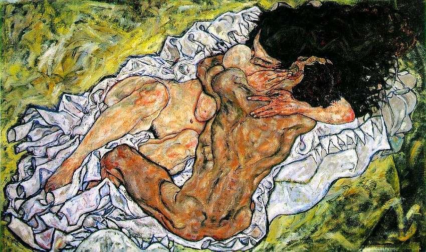 70-Эгон Шиле (1890–1918) - Объятия - 1917.jpg