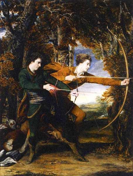 10-Джошуа Рейнолдс (1723–1792) Полковник Акланд и лорд Сидней Лучники 1769.jpg