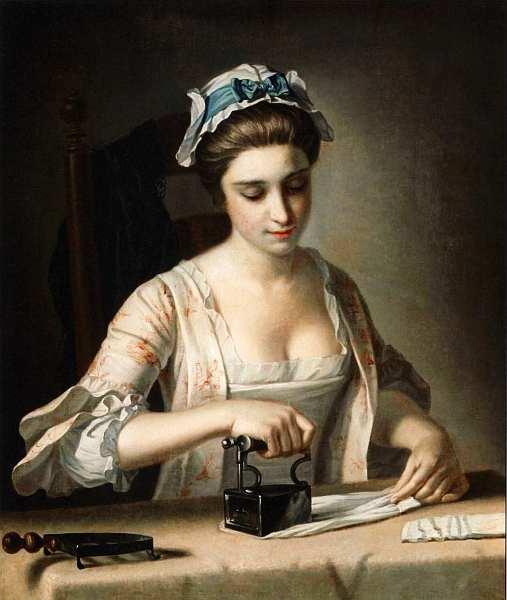 12-Генри Роберт Морланд (1716–1797) Горничная за глажкой белья 1765–1782.jpg