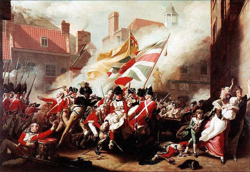 13-Джон Синглтон Копли (1738–1815) Смерть майора Пирсона 6 января 1781 1783.jpg
