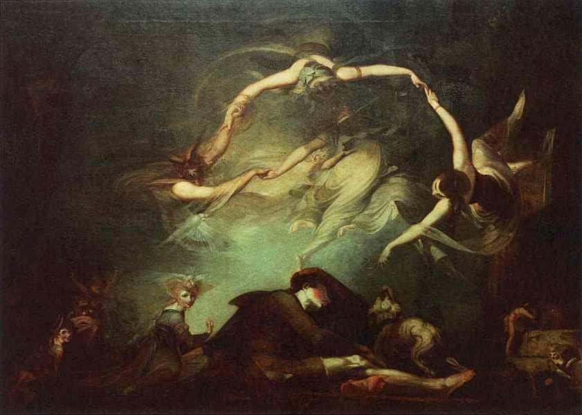 14-Генри Фюсли (1741–1825) Сон пастуха из «Потерянного рая» 1793.jpg