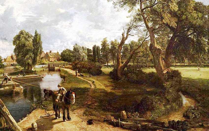 19-Джон Констебль (1776–1837) Сцена на судоходной реке 1816–1817.jpg