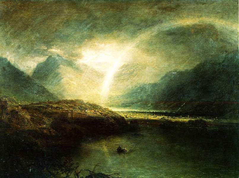 20-Джозеф Мэллорд Уильям Тернер (1775–1851) Озеро Баттермир, с видом на Кромакуотер в Камберленде. Ливень 1798.jpg