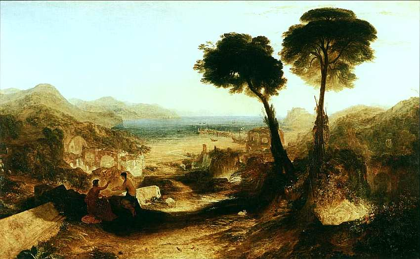 22-Джозеф Мэллорд Уильям Тернер (1775–1851) Байский залив с Аполлоном и Сивиллой 1823.jpg