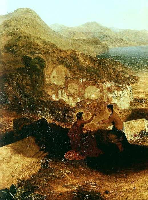 23-Джозеф Мэллорд Уильям Тернер (1775–1851) Байский залив с Аполлоном и Сивиллой 1823 (фрагмент).jpg