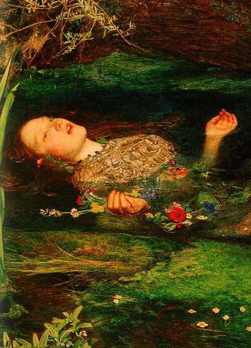 35-Джон Эверетт Милле (1829–1896) Офелия 1851–1852 (фрагмент).jpg