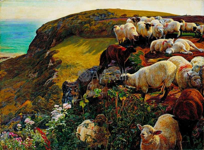 38-Уильям Холман Хант (1827–1910) Заблудившиеся овцы 1852.jpg