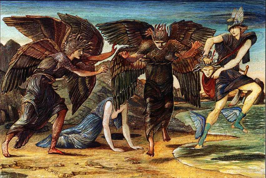 40-Эдвард Коли Бёрн-Джонс (1833–1898) Персей, преследуемый горгонами 1875–1876.jpg