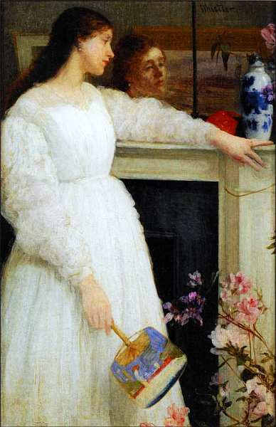 42-Джеймс Эббот Макнил Уистлер (1834–1903) Симфония в белом № 2 (Молодая девушка в белом) 1864.jpg