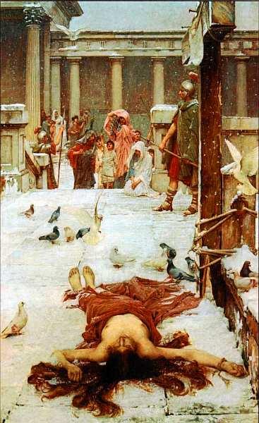 50-Джон Уильям Уотерхаус (1849–1917) Святая Евлалия 1885.jpg