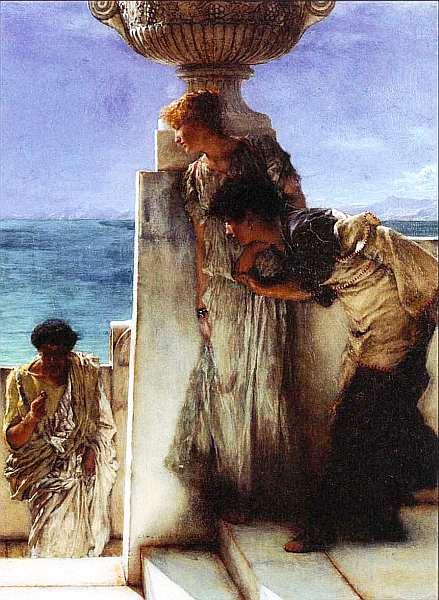 52-Лоуренс Альма-Тадема (1832–1912) Очевидное решение 1885.jpg