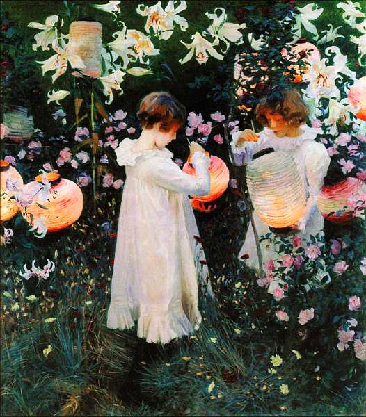 53-Джон Сингер Сарджент (1856–1925) Гвоздика, лилии, лилии, роза 1885–1886.jpg