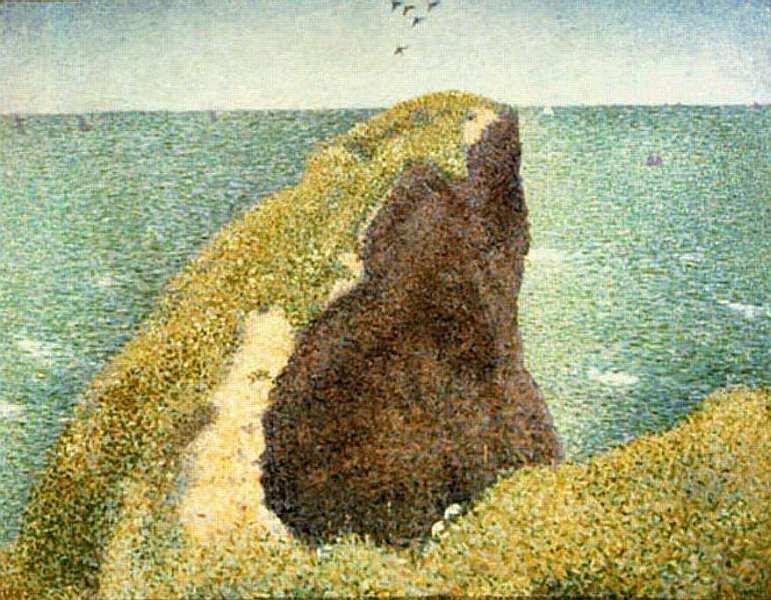 54-Жорж Сёра (1859–1891) Мыс дю Ок в Гранкане 1885.jpg