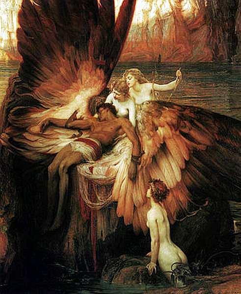 59-Герберт Дрейпер (1863–1920) Плач по Икару 1898.jpg