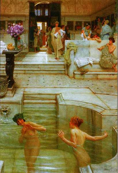 64-Лоуренс Альма-Тадема (1832–1912) Любимая привычка 1909.jpg