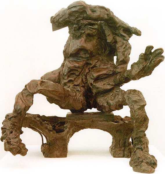 76-Виллем де Кунинг (1904–1997) Фигура, сидящая на скамье 1972.jpg