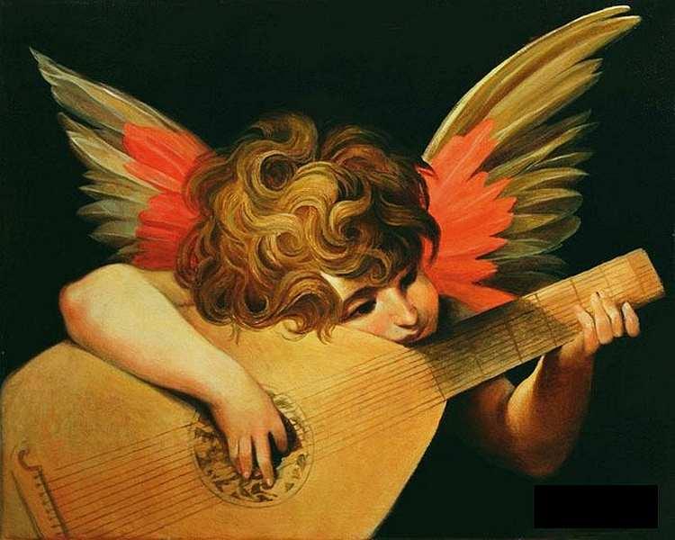 9-Фиорентино Pocco. Музицирующий ангел. 1521.jpg