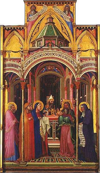 13-Амброджо Лоренцетти (около 1290-1348) Принесение во храм 1342. Дерево, темпера.jpg