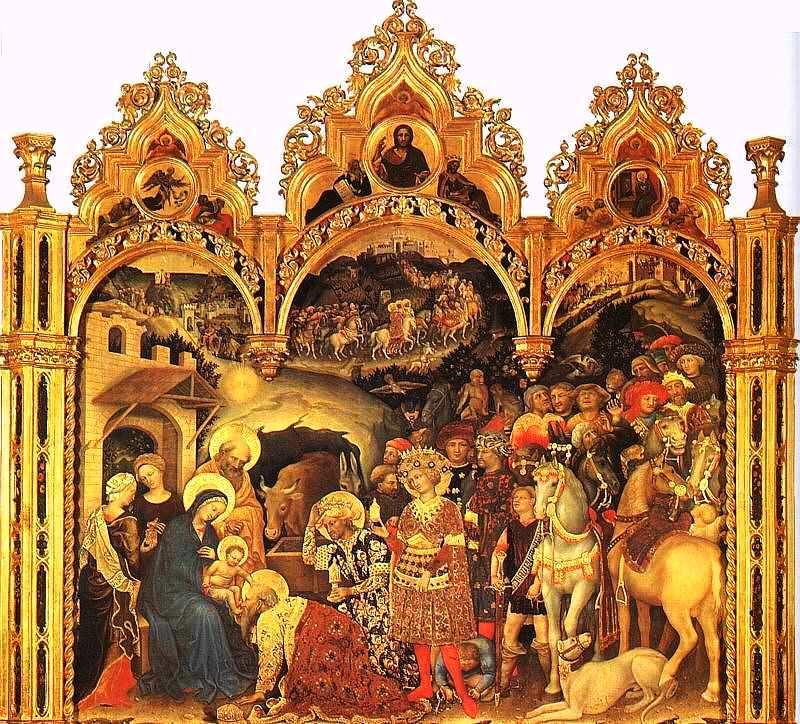 14-Джентиле да Фабриано (около 1370–1427) Поклонение волхвов 1423. Дерево, темпера.jpg