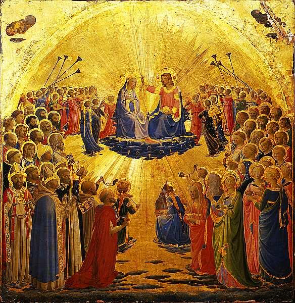 17-Фра Беато Анджелико (Фра Джованни да Фьезоле) (13951400-1455) Коронование Марии 1434–1435.jpg