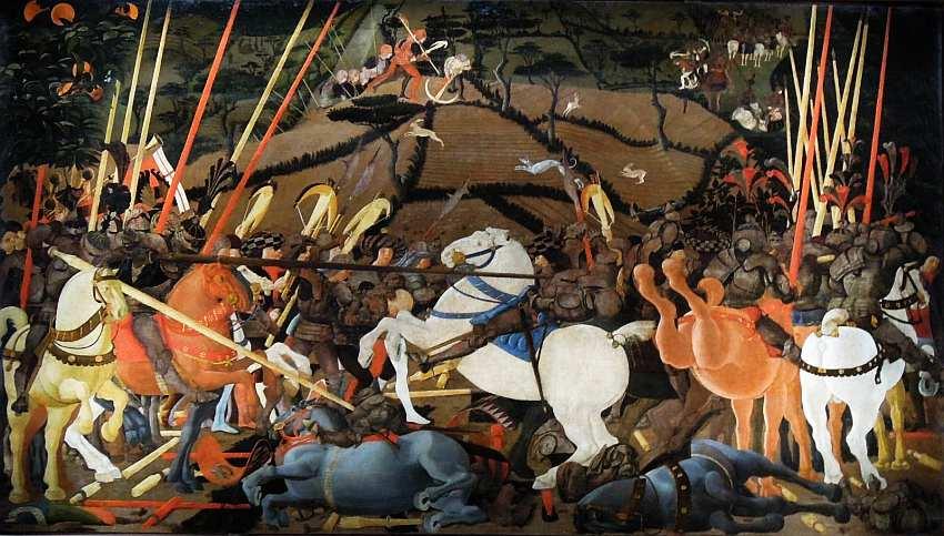 18-Паоло Уччелло (около 1397–1475) Битва при Сан-Романо. Около 1438.jpg