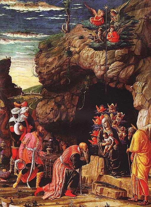 20-Андреа Мантенья (около 1431–1506) Триптих с Поклонением волхвов, Обрезанием и Вознесением 1460–1464 (фрагмент).jpg