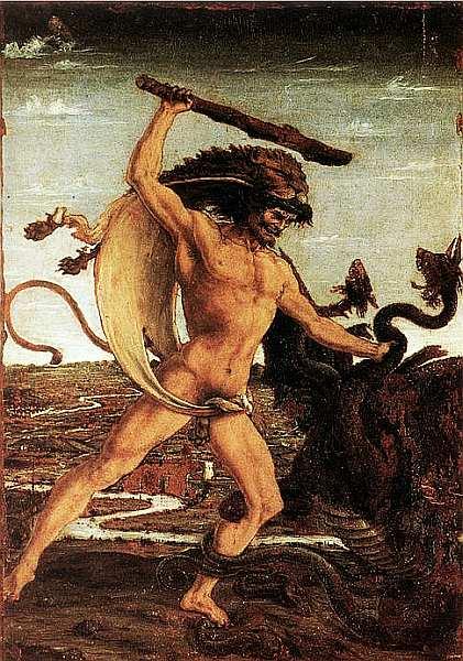 21-Антонио Поллайоло (1433–1498) Геркулес и Гидра 1460.jpg