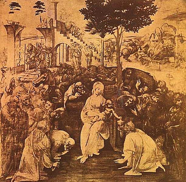 24-Леонардо да Винчи (1452–1519) Поклонение волхвов 1480–1481.jpg