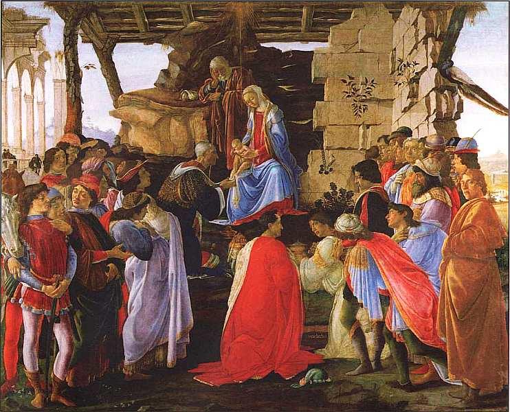 26-Сандро Боттичелли (1445–1510) Поклонение волхвов Около 1475.jpg