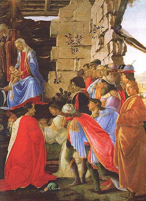 27-Сандро Боттичелли (1445–1510) Поклонение волхвов Около 1475 (фрагмент).jpg