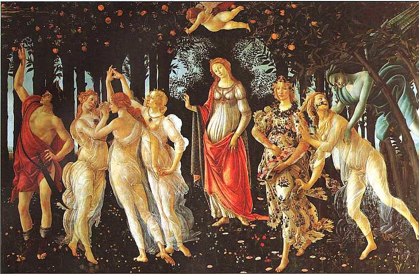 28-Сандро Боттичелли (1445–1510) Весна Около 1478.jpg