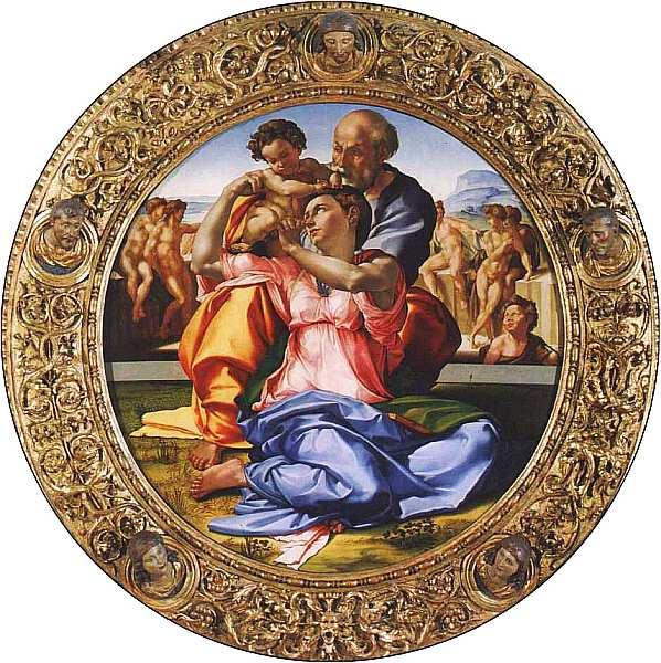 35-Микеланджело Буонарроти (1475–1564) Мадонна Дони (Святое семейство) 1505–1506.jpg