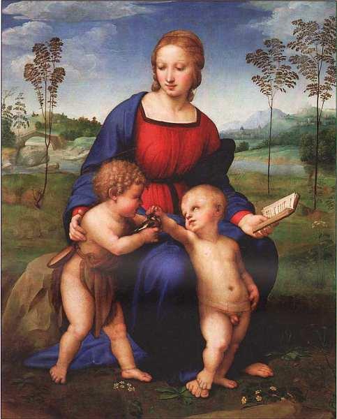 37-Рафаэль Санти (1483–1520) Мадонна со щеглом 1507.jpg