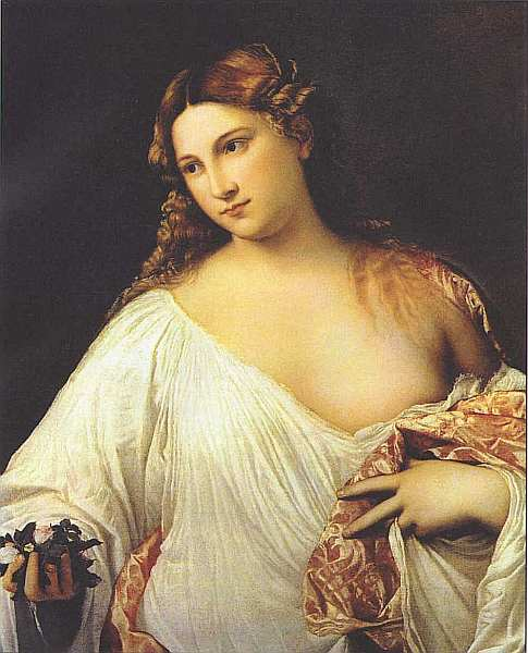 42-Тициан Вечеллио (14881490-1576) Флора Около 1515–1517.jpg