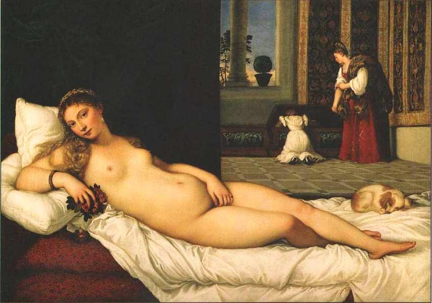 44-Тициан Вечеллио (14881490-1576) Венера Урбинская 1538.jpg