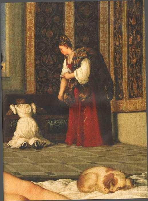 45-Тициан Вечеллио (14881490-1576) Венера Урбинская 1538 (фрагмент).jpg