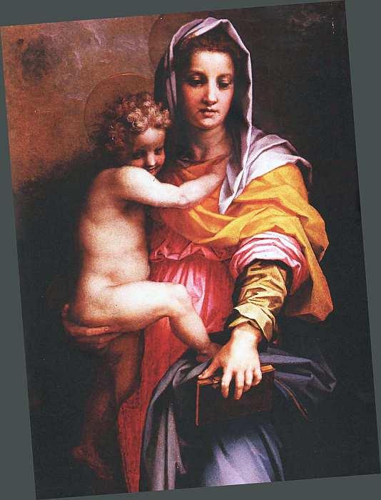 47-Андреа дель Сарто (1486–1531) Мадонна с Младенцем (Мадонна гарпий) 1517 (фрагмент).jpg