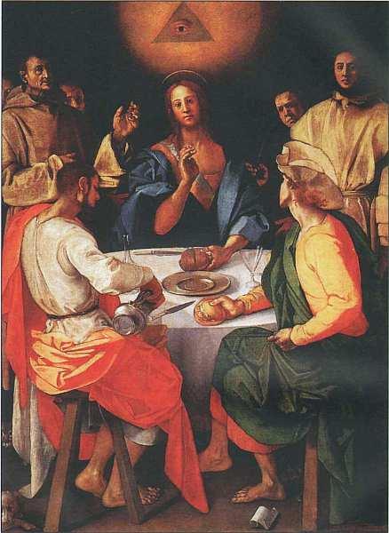 51-Якопо Понтормо (1494–1557) Ужин в Эммаусе 1525.jpg
