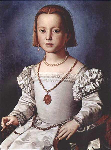 54-Аньоло Бронзино (1503–1572) Портрет Бии Медичи 1542.jpg