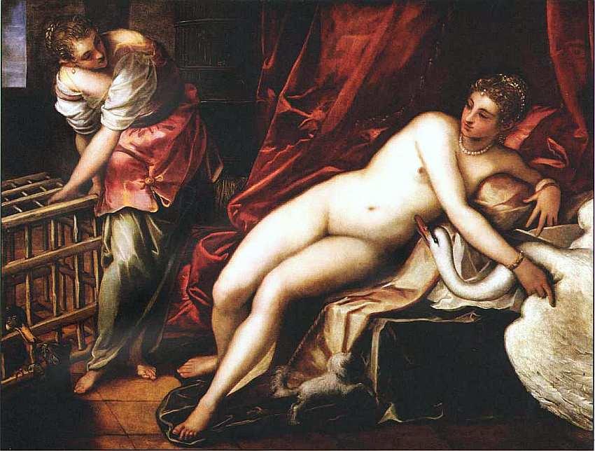 56-Якопо Тинторетто (1518–1594) Леда и лебедь 1555.jpg